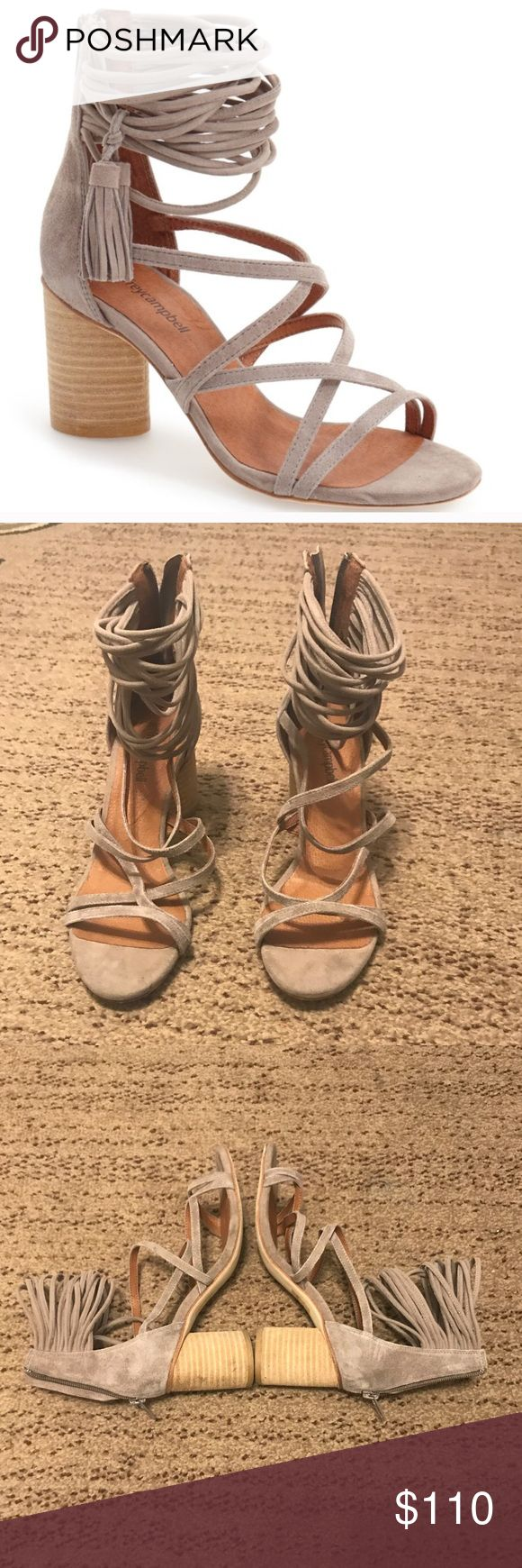 Jeffery Campbell Despina Strappy Sandals Jeffery Campbell Despina Strappy Sandals. Size 6.5. In great condition. The tassels are missing, but still super cute! Compliments any outfit! Purchased from Nordstroms. Jeffrey Campbell Shoes Sandals