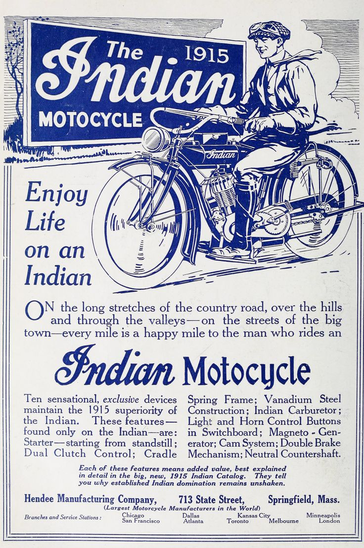 Indian Motorcycle Ad c1915