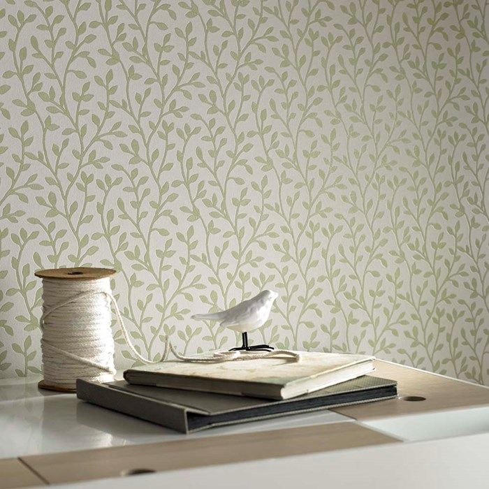 Boho Green Wallpaper - Leaf Wall Coverings by Graham  Brown