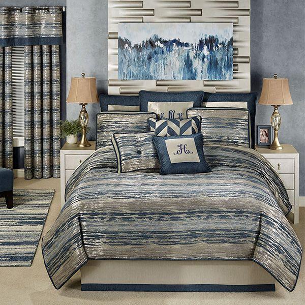 Spellbound Metallic Abstract Comforter Bedding Comforters