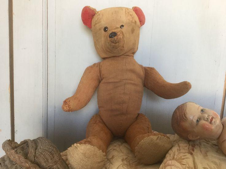 Toys French Vintage Teddy bear collectable, antique plush toy Collectible de la boutique VintagedeFrance sur Etsy