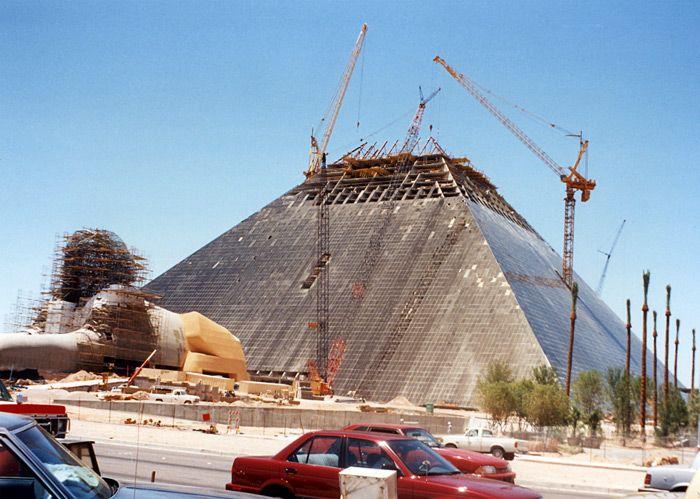 1993. Construction of Luxor on the Las Vegas Strip. http ...