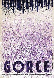 Gorce, krokusy, plakat z serii Polska, Ryszard Kaja