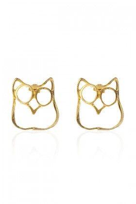 """Lidyana.com- """"The Owl"""" earring designed by Zekiye Koçarslan """"Zeckie"""""""