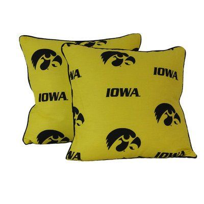 College Covers Iowa Hawkeyes Decorative Pillow 40 X 40 Includes 40 Beauteous College Decorative Pillows