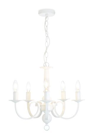 Burford 5 Light Ivory Chandelier