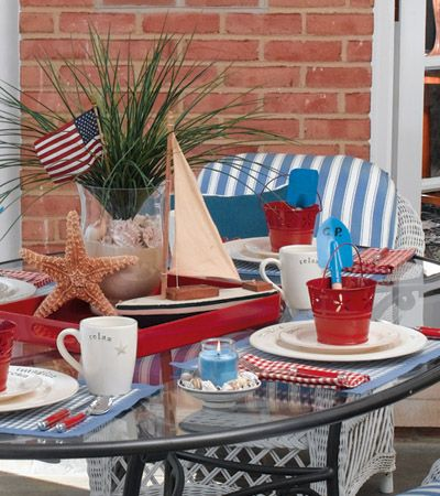 Give Your Patio Party A Just Beachy Feel With A Centerpiece That Combines A  Starfish