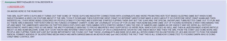 Anon summarizes GamerGate - Imgur
