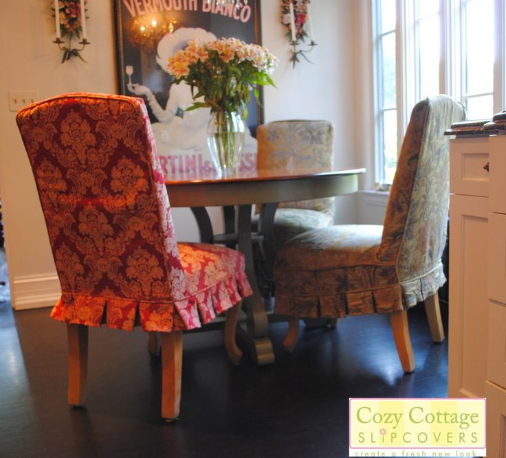 Round Back Parson Chair Covers