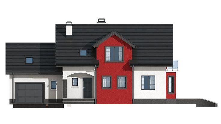 Проект Z28 GL Версия проекта Z28 с пристроенным гаражом. - Z500 - Проекты домов и гаражей