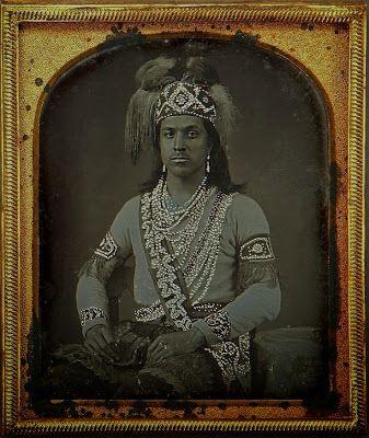 Seneca Indian Dressed in Pearls 1862