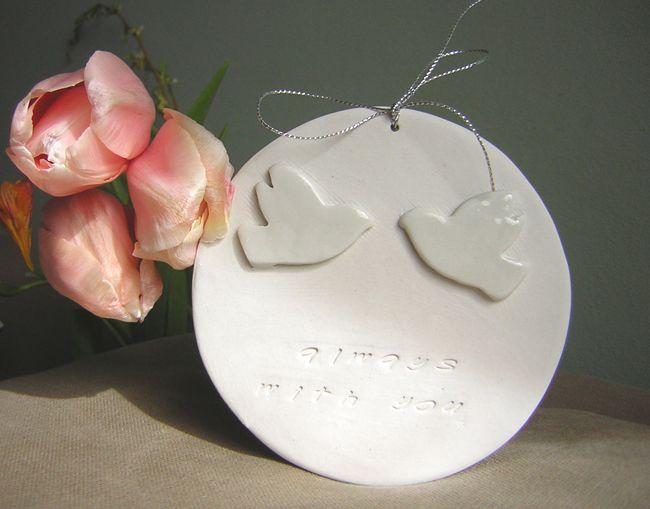 placuta decorativa din portelan de handmademylove Breslo