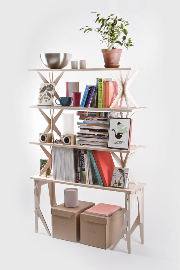 Bookshelf off of Shoebox Dwelling blog.