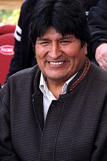 Evo Morales, President of Bolivia since January 22, 2006. Widely regarded as the country's first democratically-elected president to come from the indigenous population, his administration has focused on the implementation of leftist policies, poverty reduction, and combating the influence of the United States and transnational corporations in Bolivia.  He scaled back U.S. involvement in Bolivia while building relationships with other nations in the Latin American Pink Tide and ...