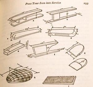Pressing Tools to make from the book 'Fashion Sewing for Everyone' by Adele P. Margolis.