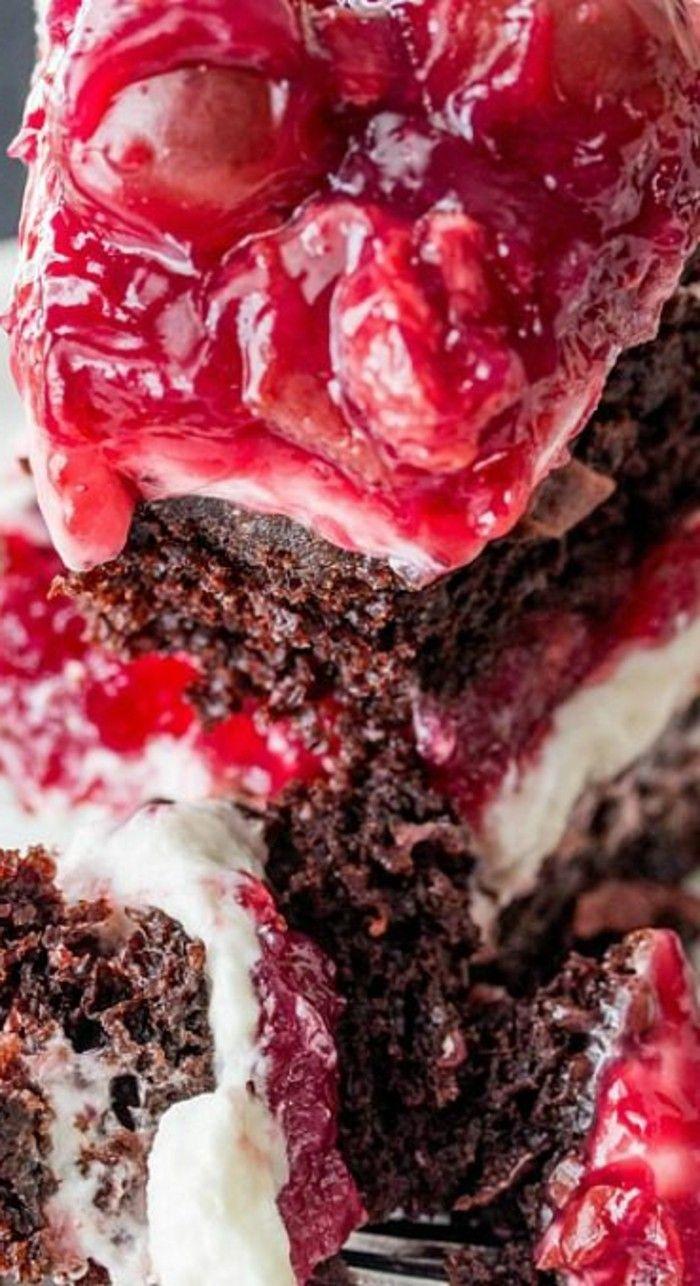 recetas de tartas, fácil de hacer, crema blanco, glaciar con cerezas