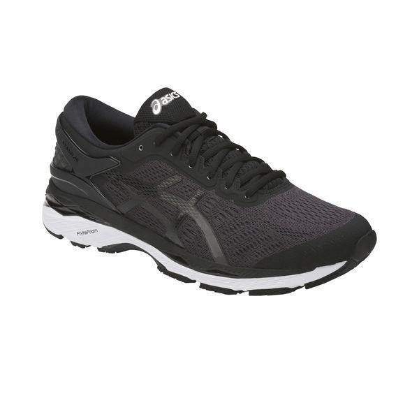 Asics Gel Kayano 24 Black Phantom White Running Shoes For Men