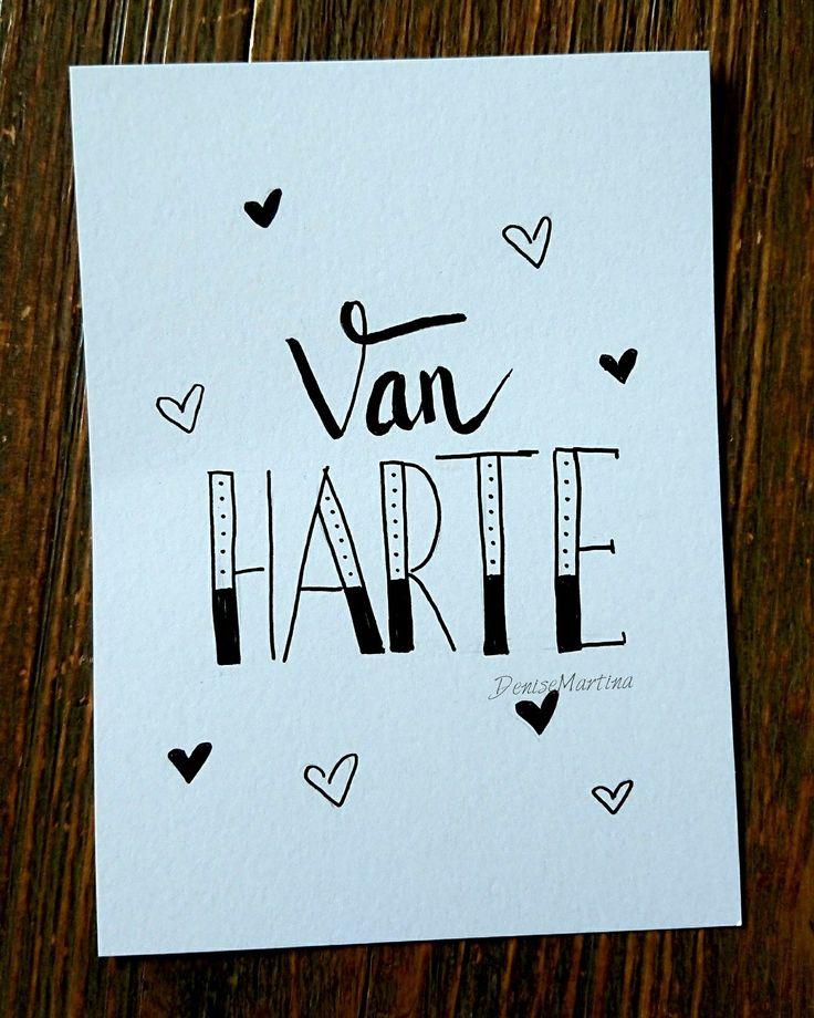 #kaartje #hoera #verjaardag #handlettering #handletteren #dutchlettering #denisemartina