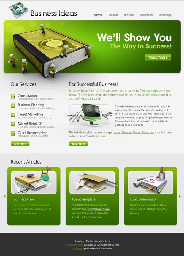 Pin By Template Monster Marketplace For Website Templates On Ui Inspiration Green Business