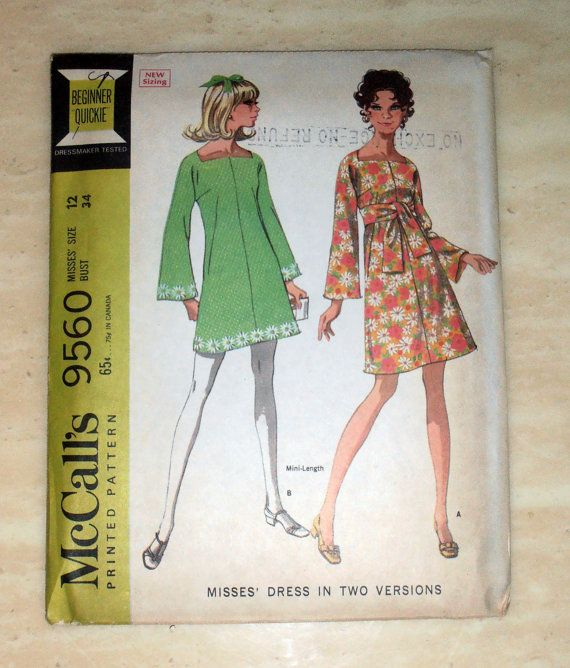 McCalls 9560 naaien patroon, Mini jurk uit de jaren 70, Womens retro patroon. Hippie kleding. Jurk in 2 lengtes  Grootte 12  Buste 34  ONBESNEDEN patroon.  VOLTOOIEN  Omhullen is in grote voorwaarde.  Alle patronen verpakt in plastic voor opslag en gemaild in bubble omhullen.  NIET EEN PDF OF KOPIE!  * Merk op dat dit een papieren patroon is, dus kun je de kleding, het is niet de afgewerkte producten te koop. Dit is een originele patroon met alle van de stukken van het patroon en de…