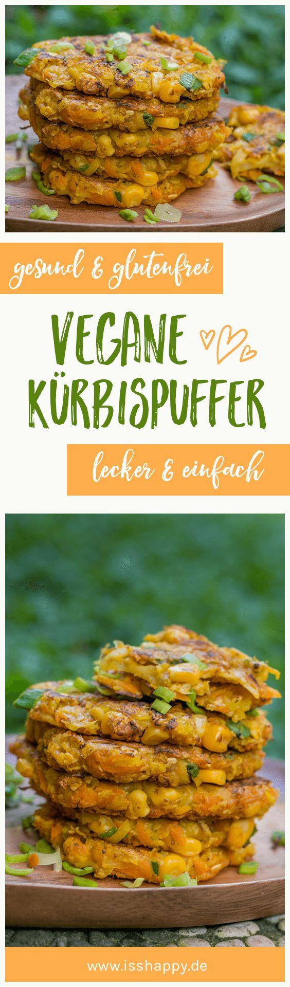 Vegane Kürbispuffer mit Mais – einfach, lecker & gesund