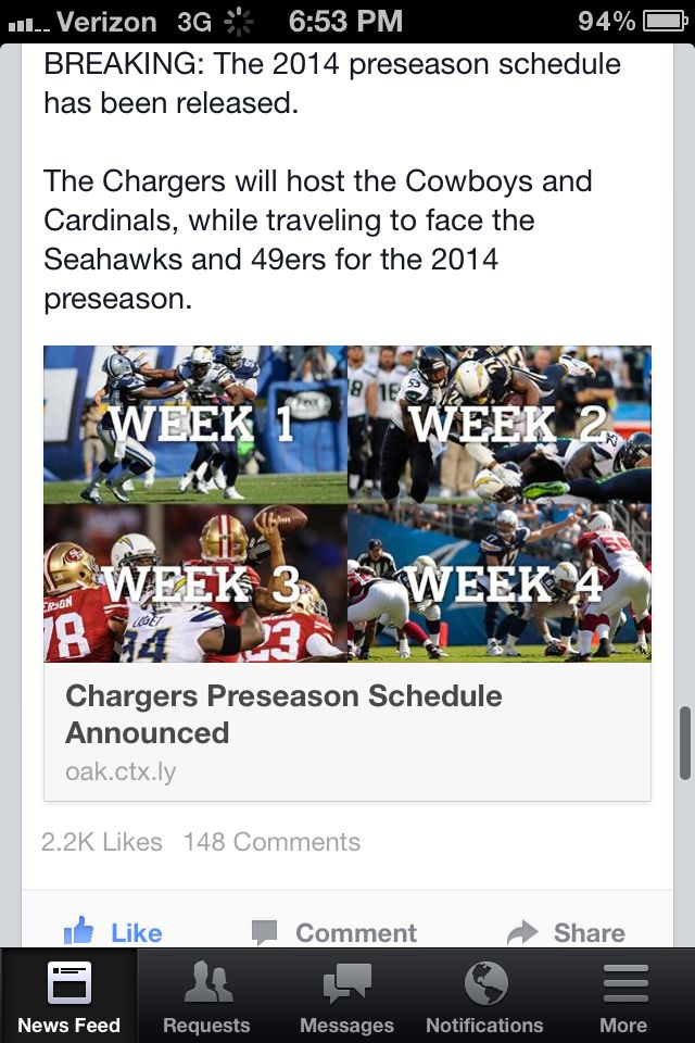 Awesome preseason schedule