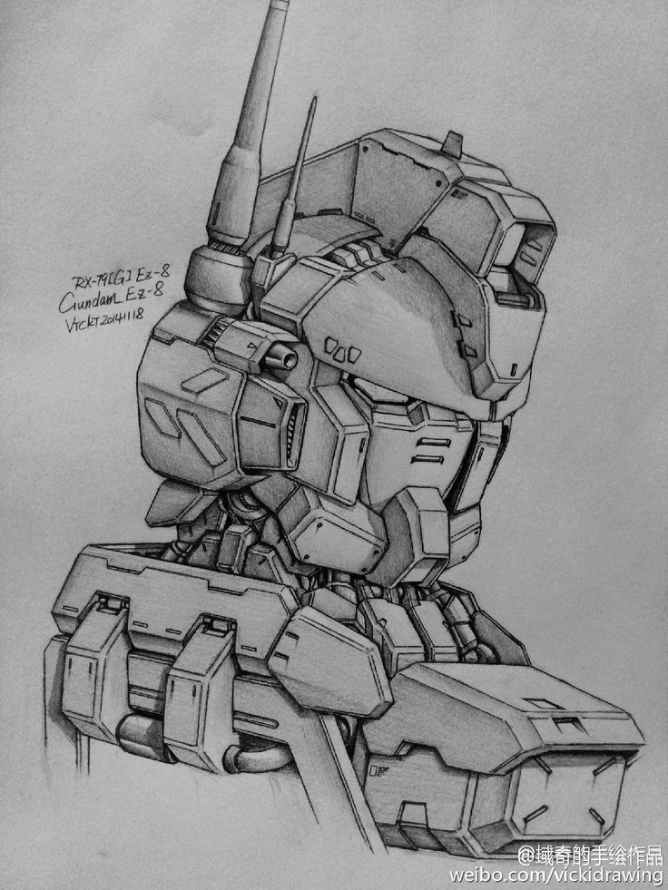 GUNDAM GUY: Awesome Gundam Sketches by VickiDrawing [Updated 4/30/16]
