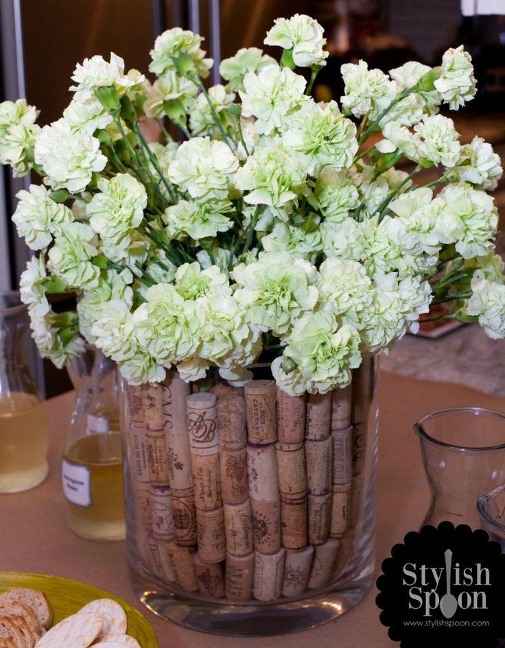 Diy Wine Cork Vase Filler Great Centerpiece For A Wine