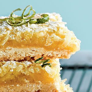 Tequila-Lime-Coconut Macaroon Bars Recipe
