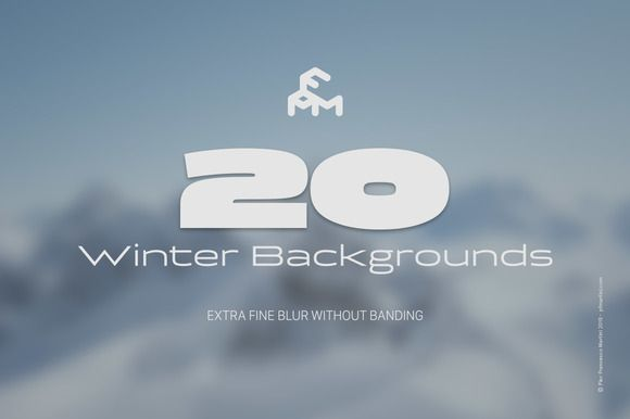 20 Winter Blurred Backgrounds by MARTINI Type Designer on Creative Market