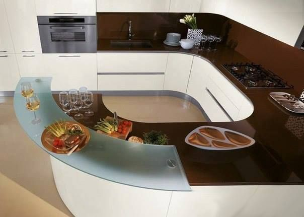 Interesting kitchen ideas - might have to incorporate a few of these.