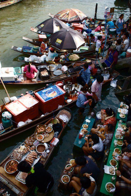 Amphawa Floating Market, Thailand  #travel #market #Asia #food