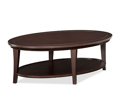 Metropolitan Oval Coffee Table from Pottery Barn $349