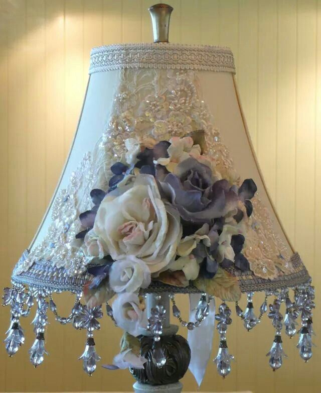 I KNOW ITS DIFFICULT 2 FIND A LAMP W/A BEAUTIFUL EMBELLISHED LAMPSHADE IN BLUE & OFF WHITE & HARDER 2 FIND 1 YOU EVEN LIKE LET ALONE LOVE, 4 A SHABBY CHIC,FRENCH COUNTRY,ROMANTIC COUNTRY,ROMANTIC FRENCH & SHABBY COTTAGE DECOR. ITS TIRING SEARCHING THRU A NEVER ENDING TYPICAL PINK & WHITE SUPPLY OF EMBELLISHED LAMPS 4 THOSE DECORS & DISHEARTENING 2 NEVER FIND A BLUE & WHITE LAMP WHEN UR DONE.FRET NO MORE,UVE FOUND A GORGEOUS EMBELLISHED LAMP U LOVE & WILL TURN UR FRIENDS GREEN W/ENVY CHERIE
