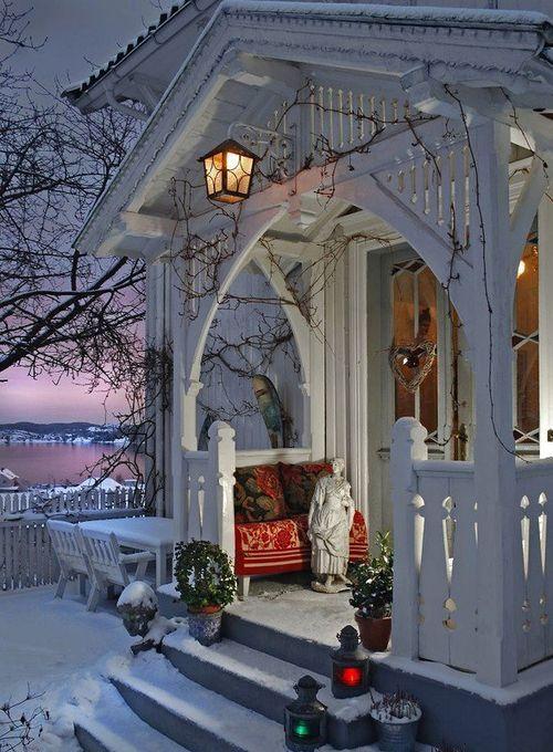 snow & porch