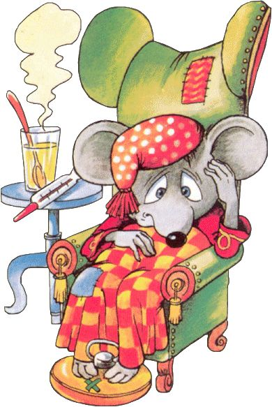 .Mouse that is ill and covered with cute blanket.  Cute-as-a-bug-in-a-rug