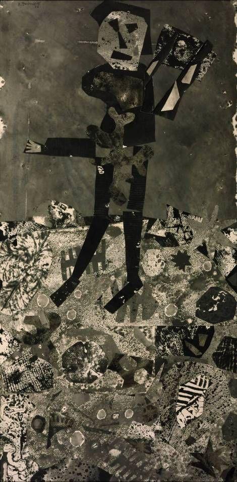 Jean Dubuffet, Man with a Hod (L'Homme à la hotte) on ArtStack #jean-dubuffet #art