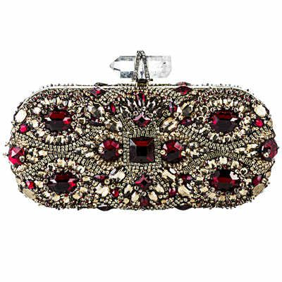 Amazed by this bejeweled clutch bag!