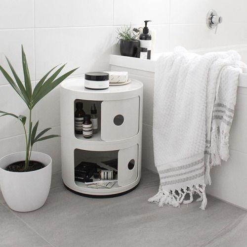 Via Jessica154   Minimal White Bathroom   Kartell Componibili