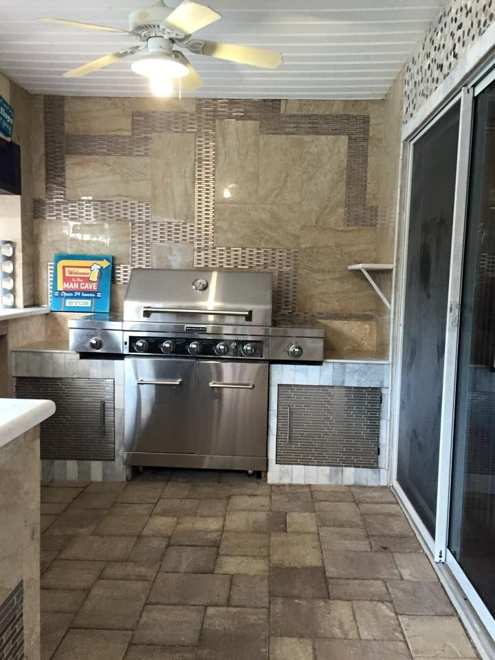 Beautiful New Summer Kitchen To Go Along With Their New Custom Pool And  Spa. #