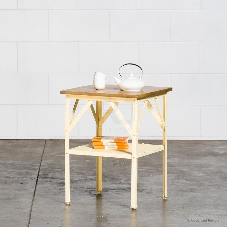 Larry Industrial Side Table - Yellow