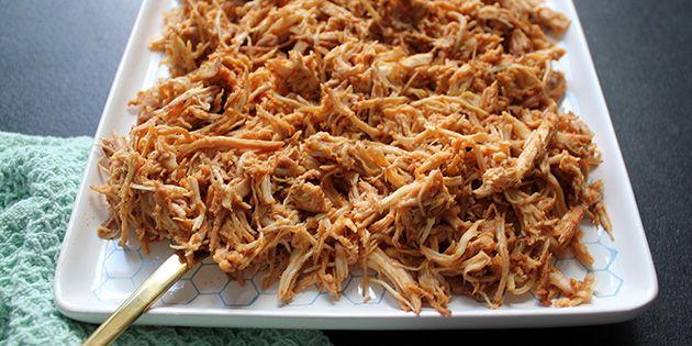 Pulled chicken - nem opskrift i ovn