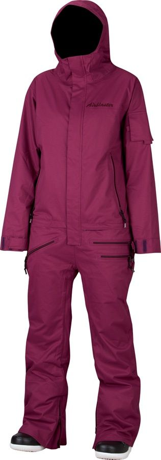 Airblaster WOMENS FREEDOM ONESIE One Piece Ski/Snow Suit, XS, Beet