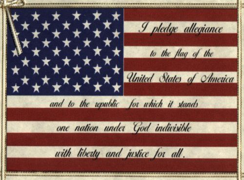 oblong picture of american flag with pledge of allegience | Flag_Pledge_of_Allegiance_25