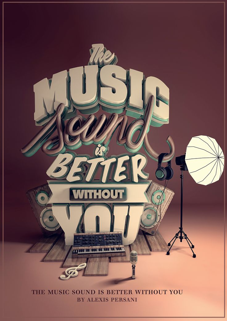 /// The music sound is better without you /// on Behance