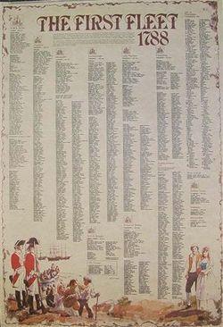 The First Fleet 1788 Chart