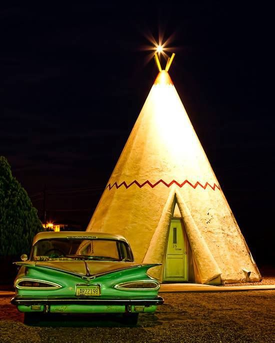 Wigwam Motel on Route 66!!! One of my favorite places we stayed!!!