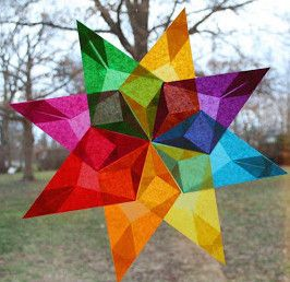 Stained Glass Paper Stars For older kids, teens but looks like fun and easy once you have all ready.