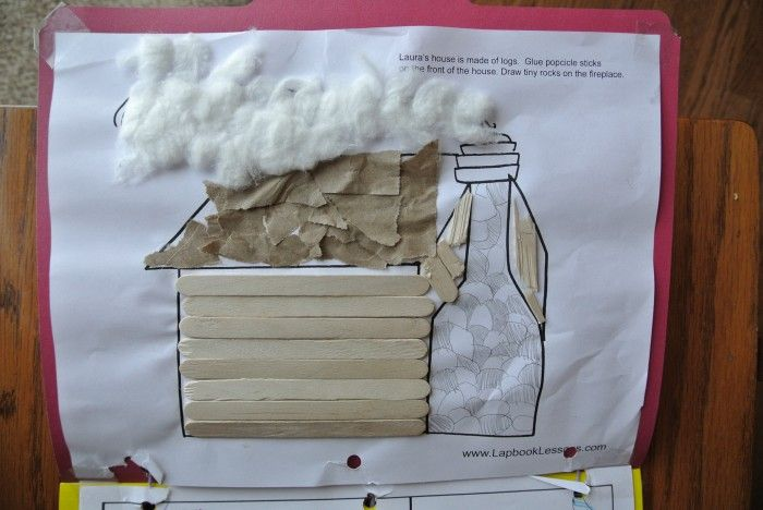 Little House Lapbook:  The little house in the big woods linky party