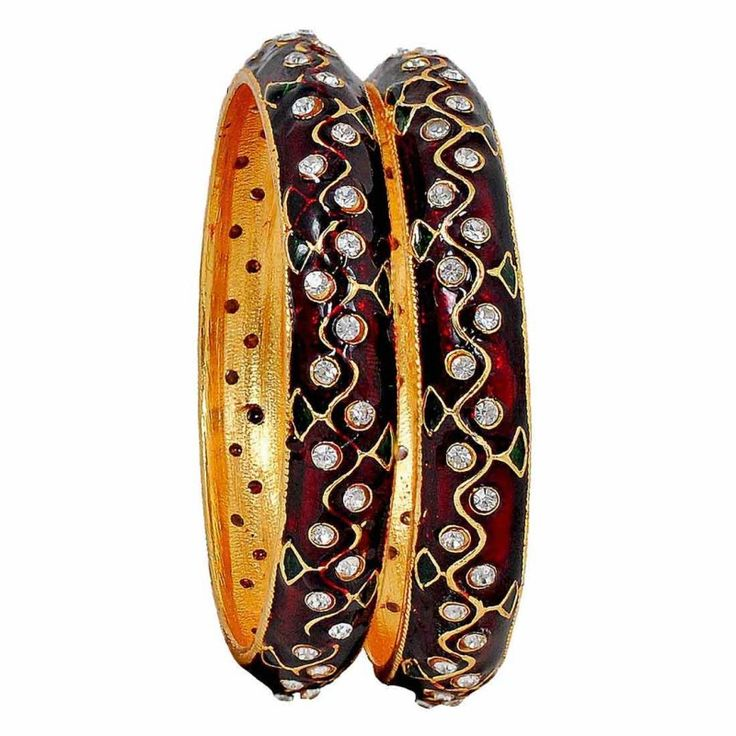 Maayra Superb Maroon Meenakari 2.6 #Bangle		 http://goo.gl/Gr01rh